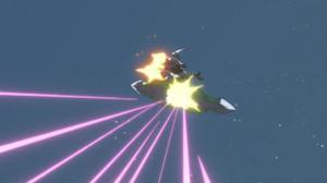 人型シークレットに撃墜されるRA272 ニルヴァーシュ