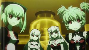 天使型アーンヴァルMk.2(アン)、戦乙女型アルトレーネ(レーネ)、戦乙女型アルトアイネス(アイネス)、悪魔型ストラーフ Mk.2(ヒナ)