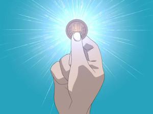 燦然と輝く十円玉