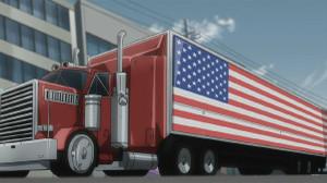 星条旗の付いたトレーラーを運転して、アメリカ国歌を鼻歌で歌うなんて予想しただろうか?