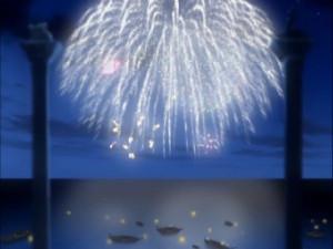 花火は美しかったわ。アニメーションは素晴らしい仕事をしたわね