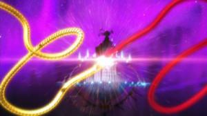 二匹の龍の決闘シーン