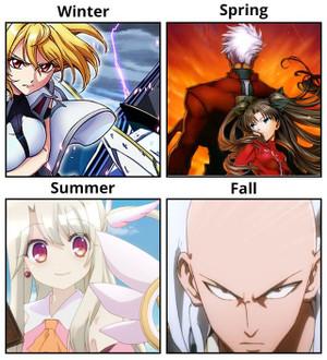 クロスアンジュ 天使と竜の輪舞、Fate/stay night [Unlimited Blade Works]、Fate/kaleid liner プリズマ☆イリヤ、ワンパンマン