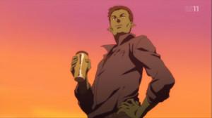 記憶が確かなら最初にリンゴを食べて自爆する男と、水をのボトルを捨てる男を見ることができると思う。