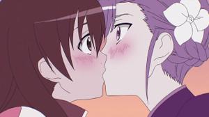まどかとランのキス