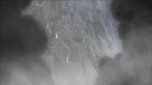 切り立った断崖絶壁から脱出