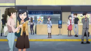 弁天島駅がモデルの駅です。ただ、絵を見ると浜松駅のようにも見えます。
