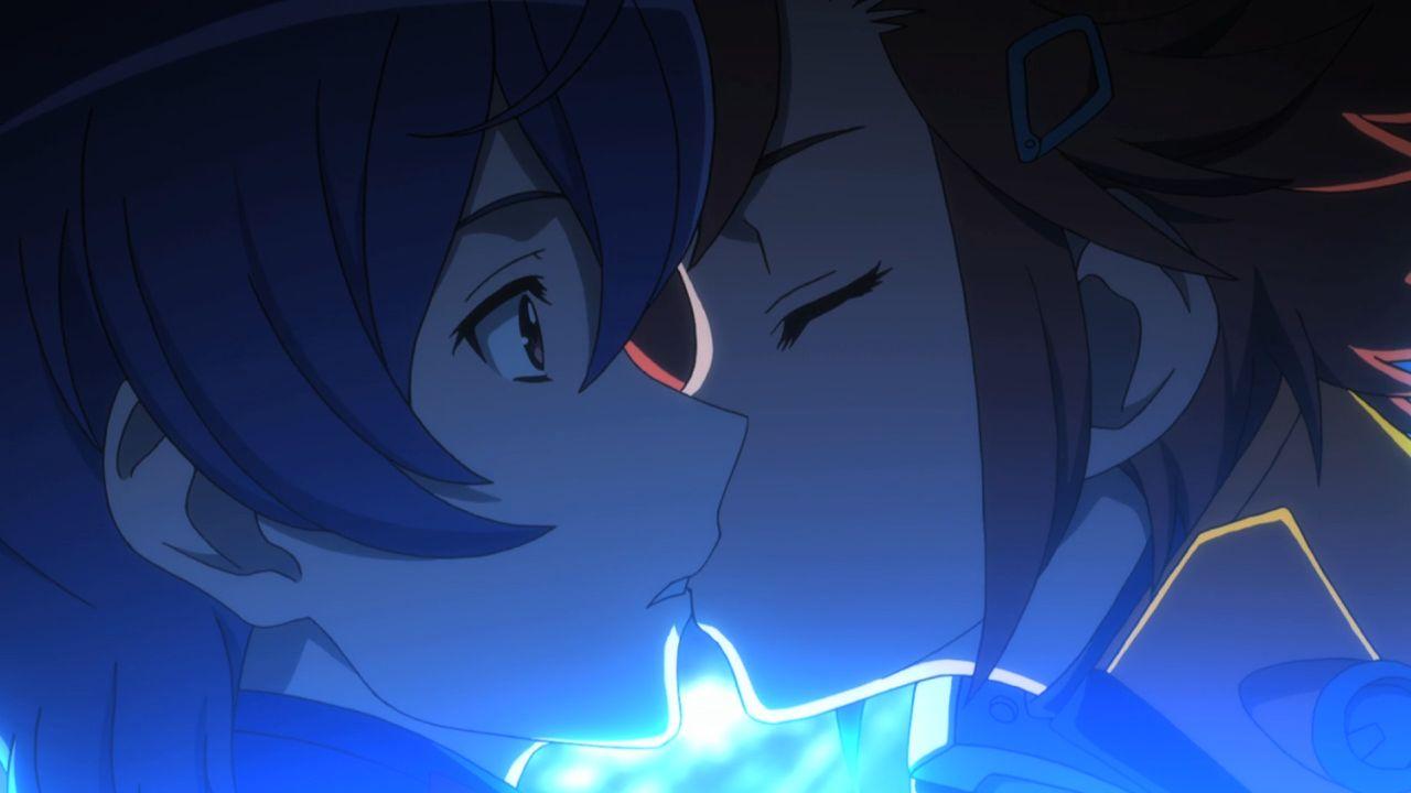 キャプテン・アース 嵐テッペイ(あらし)夜祭アカリ(よまつり)のキス
